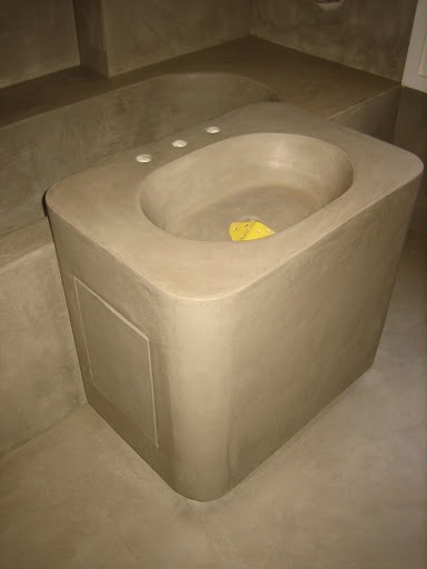 L'ART.isan : meuble vasque en béton ciré lissé